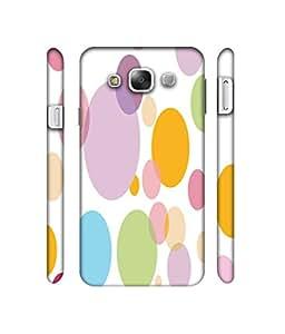 NattyCase Circles 3D Printed Hard Back Case Cover for Samsung Galaxy E5