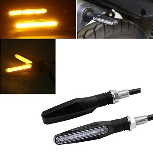 Intermitente motocicleta 12LED naranja 12V flexible plegable ESS Tech® 1par lámpara Z750Z1000Bandit...