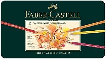 Faber-Castell 110011 Crayon Polychromos boîte métal de 120 pièces