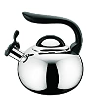 2qt Stainless Steel Whistling Teakettle (Polished/Traditional)