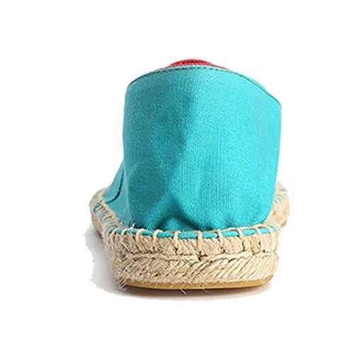 Alexis Leroy Espadrilles Femme décontractées Chaussures Mode Canvas Lake Blue