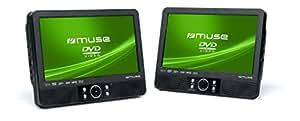 Muse M-990 CVB Lecteur DVD double écran 22.9cm pour voiture