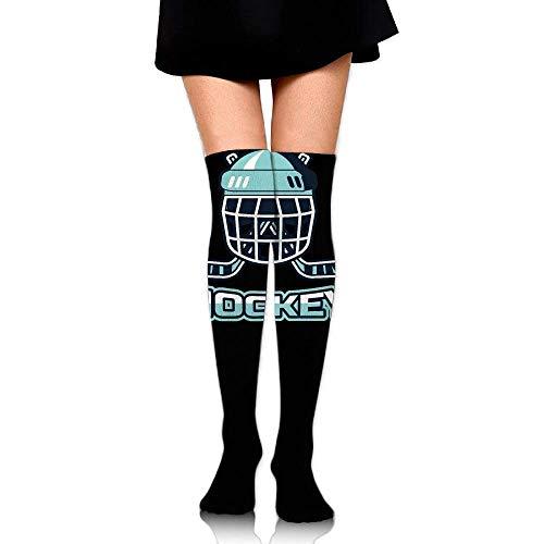 Herren-hockey Compression Legging (ruichangshichengjie Women Crew Socks Thigh High Over Knee Hockey Basketball Dress Legging Casual Compression Stocking)