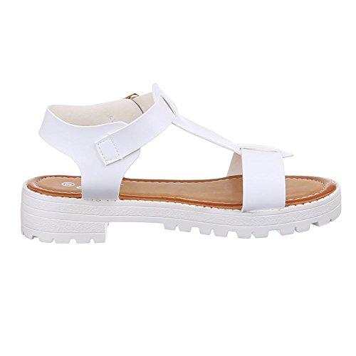 Ital-Design , Sandales femme Blanc - Blanc