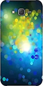 Snoogg Colourful Bubbles Designer Protective Back Case Cover For Samsung J5