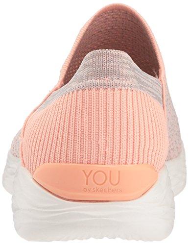 Skechers You-Rise, Sneaker Infilare Donna Multicolore (Peach)