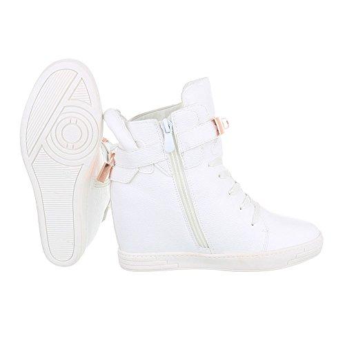 Ital-Design - Pantofole a Stivaletto Donna Bianco