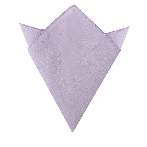AUSCUFFLINKS Herren Erröten lila einstecktuch baumwolle leinen taschentuch | hochzeitstaschentuch für trauzeugen (einstecktuch, erröten lila)