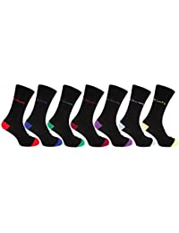 Mens Cotton Rich Mood Casual Socks (Pack Of 7)