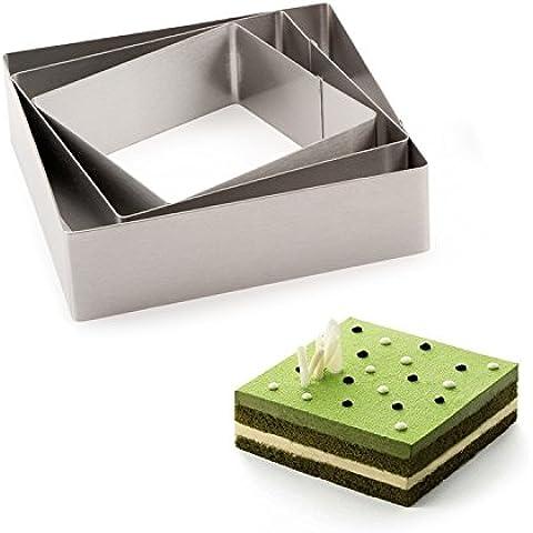 RFF-Famiglia gadget utili Mousse torta strumento in acciaio inox quadrato