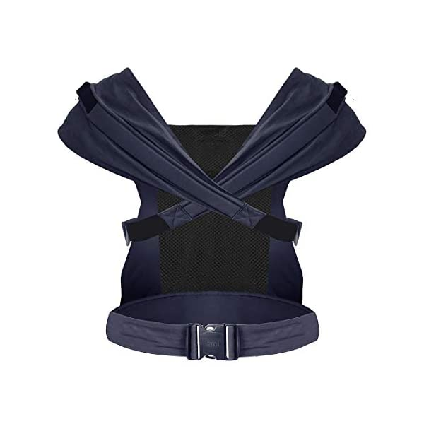 Izmi Toddler Breeze Carrier, Featuring Breathable Mesh Panel, Ideal for Babies 9 Months Plus, Midnight Blue Izmi Ideal for carrying babies 9 months plus Features a mesh panel for extra ventilation and breath-ability Padded waistband for extra support 2