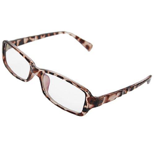 Leopard druckte Kunststoff Full Frame MC Objektiv Plano Brille für die Dame