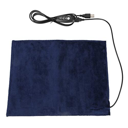 "5V USB Electric Cloth Heater Pad Heating Element for Muscle Pain Relief Clothes Seat Pet Warmer, 9"" x 12"""
