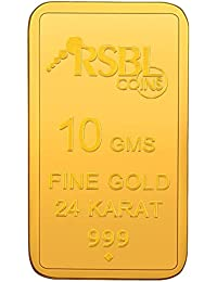 RSBL  10 gm, 24k (999) Yellow Gold Ecoins Precious Bar