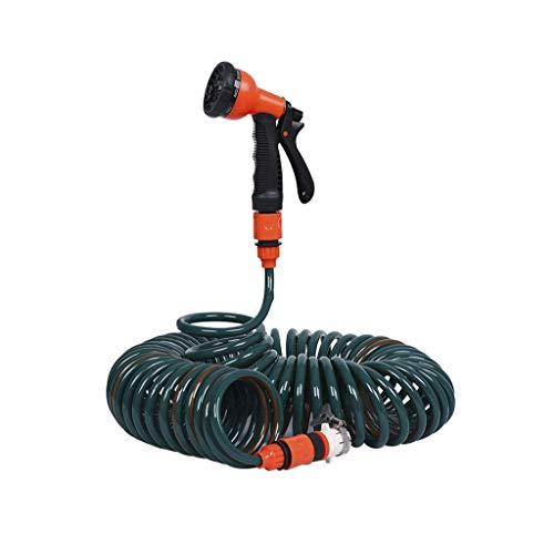 SJIASG Quellwasserleitung Set, Teleskop Home Bewässerungsrohr, Licht Hochdruckbürste Autowaschanlage Wasserpistole, für Garten Autowäsche, Frühling Tragbar (größe : 15m)