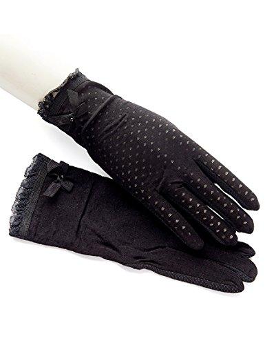 Gants de dentelle d'été Femelle Thin Short Stretch Tout se réfère à des gants de protection solaire féminine mince Féminine Driving Gants antidérapants respirants ( Couleur : 2 ) 1