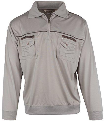 Langarm-Poloshirt für Herren von SOUNON - Gelbgruen (M4), Groesse: L