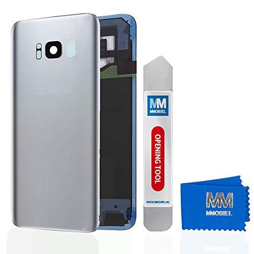 MMOBIEL Backcover Akkudeckel Rück Klappe mit Linse kompatibel mit Samsung Galaxy S8 Plus G955 6.2 Inch (Arctic Silver) - Unlocked Handys Att