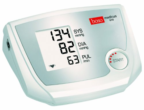 boso medicus uno - Oberarm-Blutdruckmessgerät mit Einknopfbedienung, großem Display und Arrhythmie-Erkennung - Inkl. Manschette (22-32cm) Großes Display