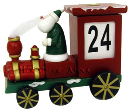 Christmas Wooden Santa Train Advent/Countdown Calendar Traditional