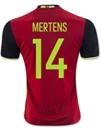 20162017Belgique 14Sèche Mertens Home Jersey de Football en rouge