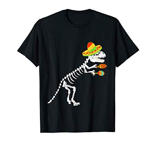 Sombrero Dinosaurier Fossile Skelett T-Rex Kostüm T-Shirt