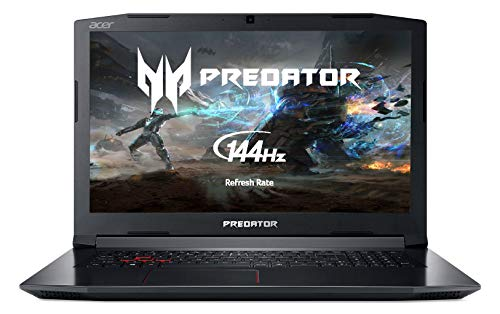 "Acer Predator Helios 300 PH317-52 Gaming Notebook - (Intel Core i7-8750H, 16GB RAM, 256GB SSD + 1TB HDD, NVIDIA GeForce GTX 1060 6G, 17.3"" FHD IPS 144Hz Display, Black)"