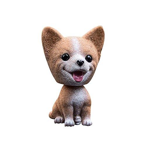 Ruier-hui Auto Nette Nicken Schütteln Kopf Hund Puppe Verzierungen Auto Interieur Innendekoration Wackelkopf Dashboard Dekoration (Net Hund Auto)