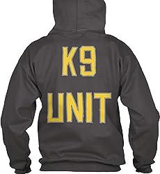 teespring Men's Novelty Slogan Hoodie - DM Wear K9 Unit Big Logo