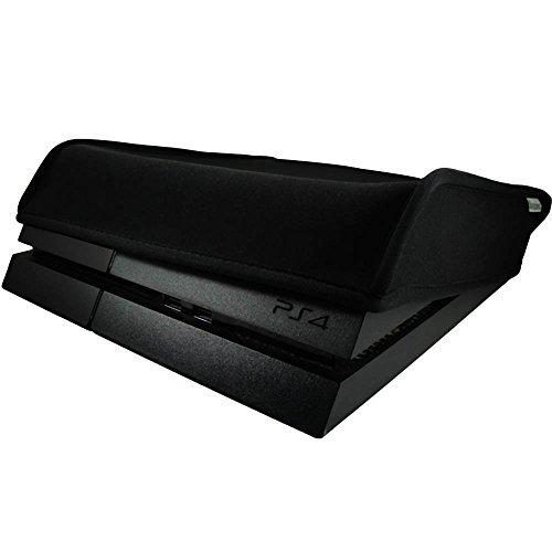 Pandaren® Staub Beweis Neoprene Cover Abdeckung für Sony PS4 Konsole Horizontal Ort (Schwarz) -