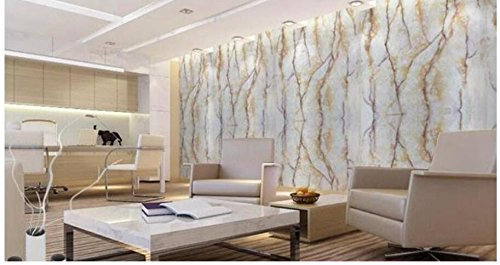 AyzrKüche Marmortisch Mobiliar Tapete Wand Aufkleber 60Cmx1M, Gelb