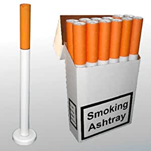 Cendrier en forme de cigarette avec pied support pour l for Cendrier de jardin