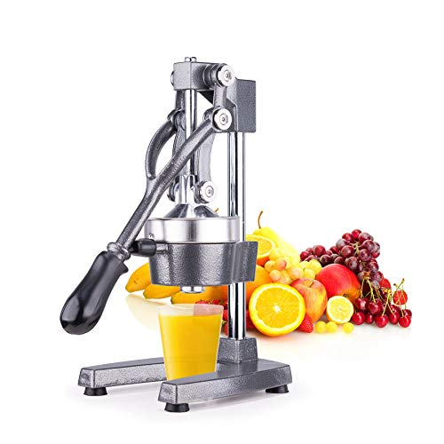 Sfeomi Commercial Manual Fruit Juicer Manual Orange Squeezer Commercial Grade Citrus Juicer for Orange Lemon Pomegranate for Restaurant Home (Gray)