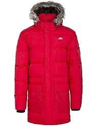 Trespass Baird abajo chaqueta para hombre, hombre, color rojo, tamaño S