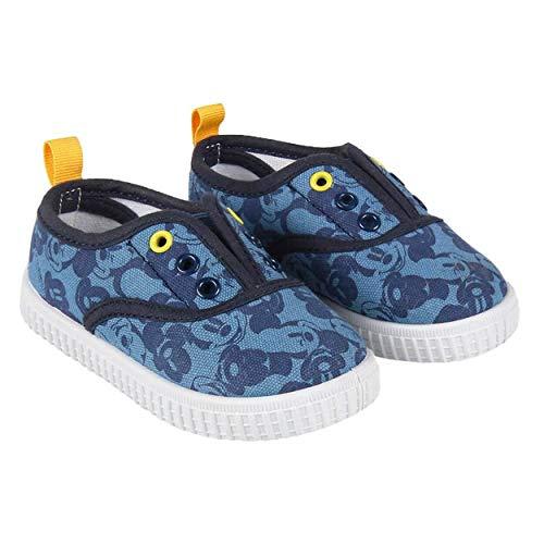 Zapatillas de Lona Niño Mickey Mouse Disney Sin Cordones, Azules (Tal