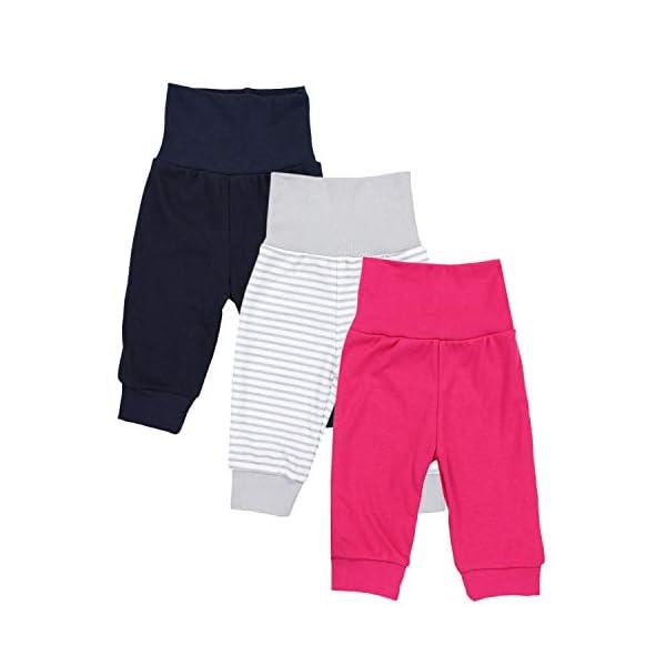 TupTam Pantalones de Bebé para Niñas. Paquete de 3 1