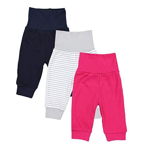 TupTam Baby Mädchen Lange Pumphose 3er Pack, Farbe: Farbenmix 1, Größe: 56