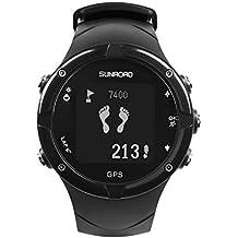 Momangel Sunroad GPS Negro Reloj Inteligente TriatlóN Paso/CompáS Nivel/UbicacióN Black