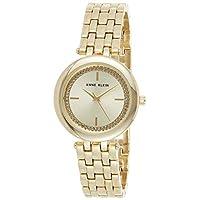 Anne Klein Womens Quartz Watch, Analog Display and Stainless Steel Strap AK3054CHGB