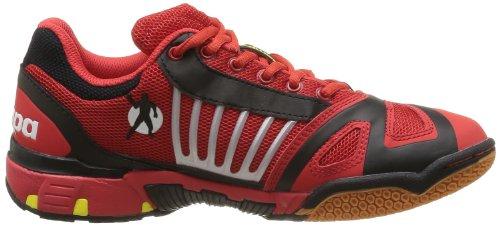 Kempa Cyclone Xl (Michelin), Chaussures de handball mixte adulte Rouge/Noir/Jaune
