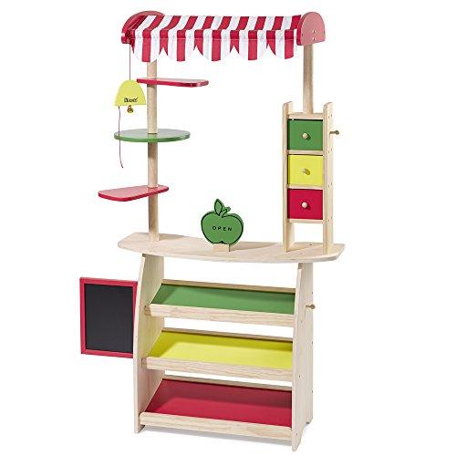 Preisvergleich Produktbild howa Kaufladen, Marktstand mit Markise aus Holz 4747
