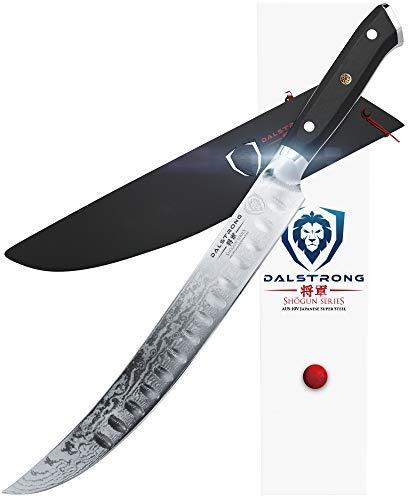 Dalstrong Fleischermesser - Shogun Series Slicer – Japanisch - AUS-10V - Vakuumbehandelt – Butcher's Breaking Cimitar 25,4 cm – Mit Messerscheide