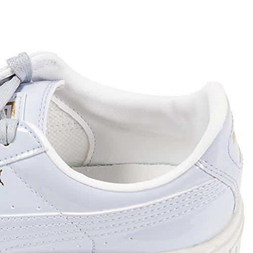 Puma Basket Platform Patent Wn's, Scarpe da Ginnastica Basse Donna Blu (Halogen Blue-halogen Blue)