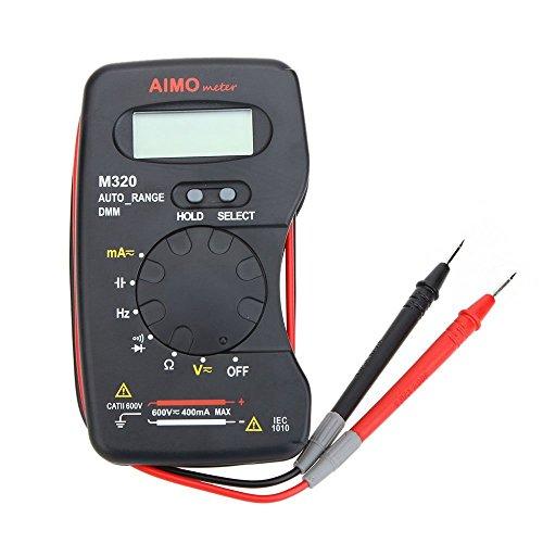 KKmoon Mini Digital Multímetro DMM Meter Amperímetro Voltímetro Ohmetro LCD Handheld AIMO M320