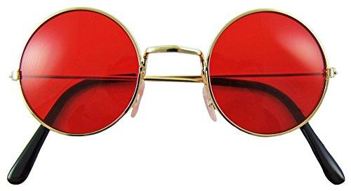 Lennon Brille Nickelbrille - Rot