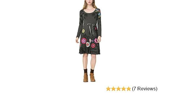 Desigual Damen Kleid Vest NEWA, Grau (GRIS ALQUITRAN 2022), 32  (Herstellergröße  XS)  Amazon.de  Bekleidung fa9fc92a1d