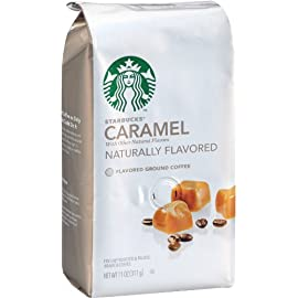 Starbucks Natural Fusions Ground Coffee, Caramel Flavored, 11-Ounce Packages (Pack of 2)