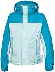 "Trespass Cici - Chaqueta de esquí para mujer, color azul, talla Medium (39-41 "")"