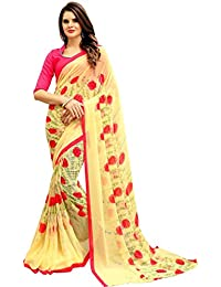 Trundz Multicoloured Printed Georgette Saree With Blouse Piece
