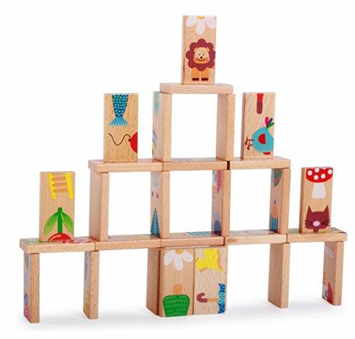 farbe-dominochickwin-features-wooden-toys-dominos-entwicklung-denken-padagogische-spiele-toys-28-pcs